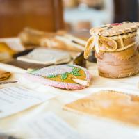 traditional crafts at the Acho Dene Native Crafts store in the NWT