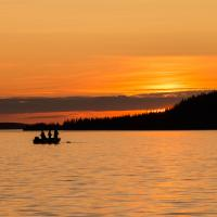 Fishing on the East Arm of the Great Slave lake in the NWT