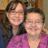 Aurora Heat Founder Brenda Dragon with mom, Jane Dragon in Fort Smith, NWT.