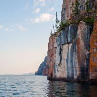 Cliffs along the shores of Great Slave Lake