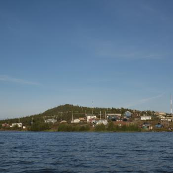 Shore view of Łutsel K'e in the Northwest Territories