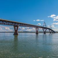 Deh Cho bridge in Fort Providence in the NWT - Photo Corey Myers