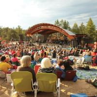 People at the main stage of Folk on the Rocks in Yellowknife NWT