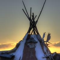 A teepee in the Community of Dettah in the Northwest Territories
