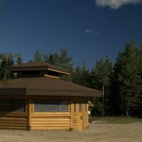 Shelter near Fort Providence in the Northwest Territories