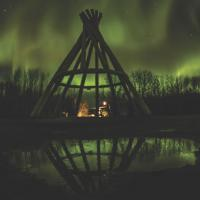 Giant teepee at the Papal grounds in Fort Simpson, NWT