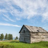 Log cabin in Fort Resolution in the Northwest Territories