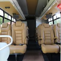 Inside look at the Bucket List Tour Company Luxury Coach in Yellowknife Northwest Territories.