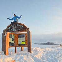 Nature Tours of Yukon at the Arctic Circle in winter.