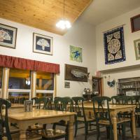 Main dining area in Grey Goose Lodge in Deline in the Northwest Territories.