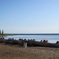 Plummer's Trophy Lodge overlooking Great Bear Lake in the Northwest Territories.
