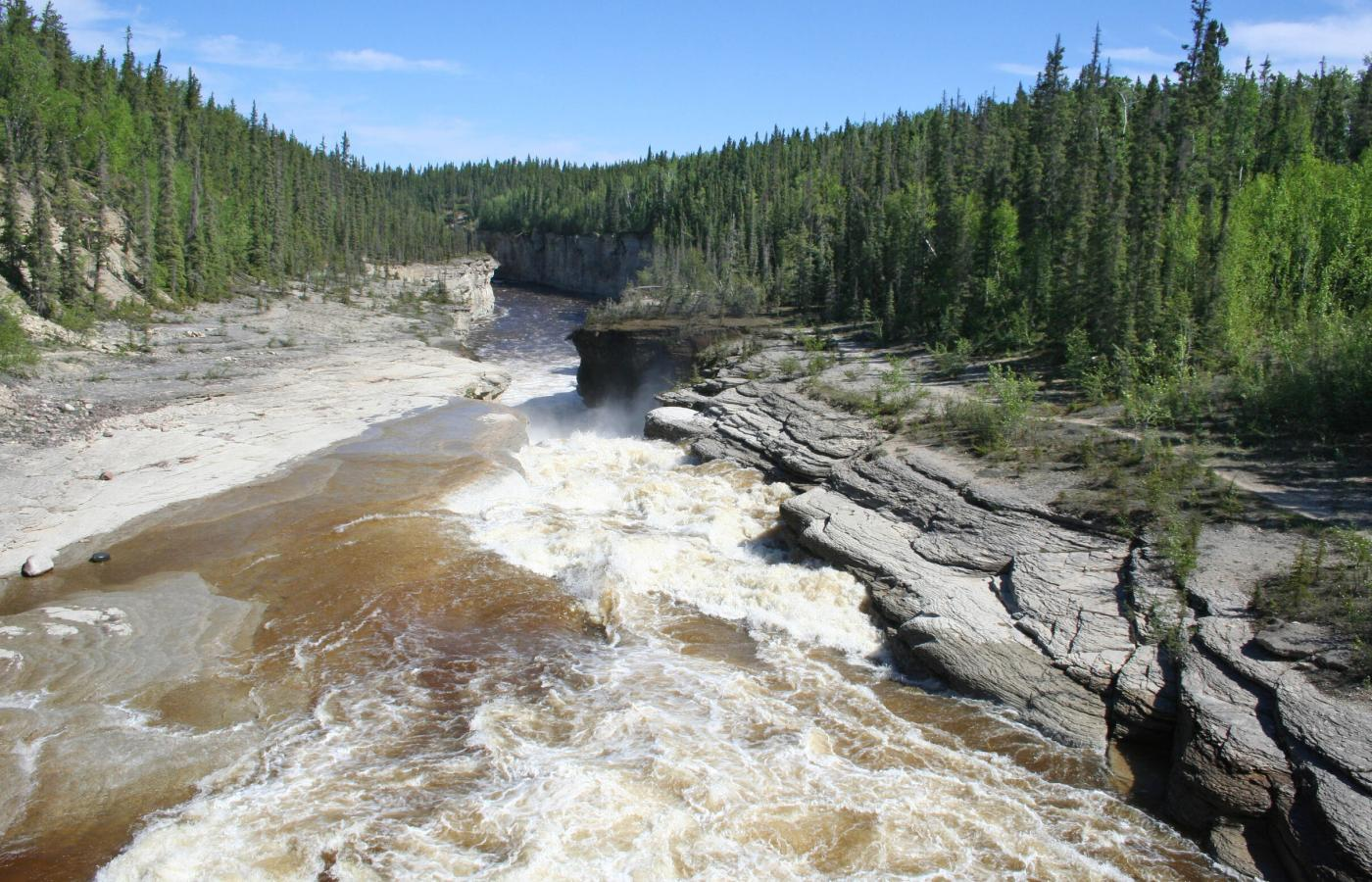 Sambaa Deh Falls in the Northwest Territories