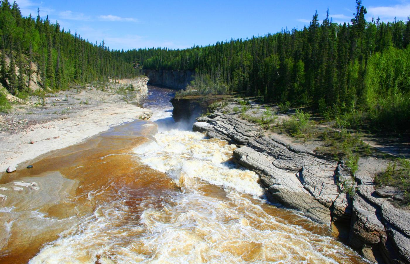 The Sambaa Deh Canyon makes a great day-hike in the Dehcho Region of the Northwest Territories.