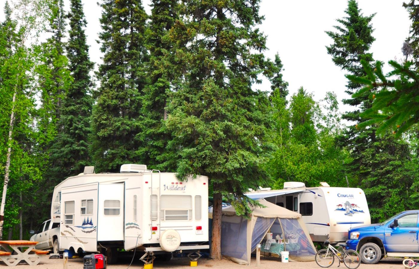 Camp at the Northwest Territories beautiful campgrounds on your northern RV road trip.