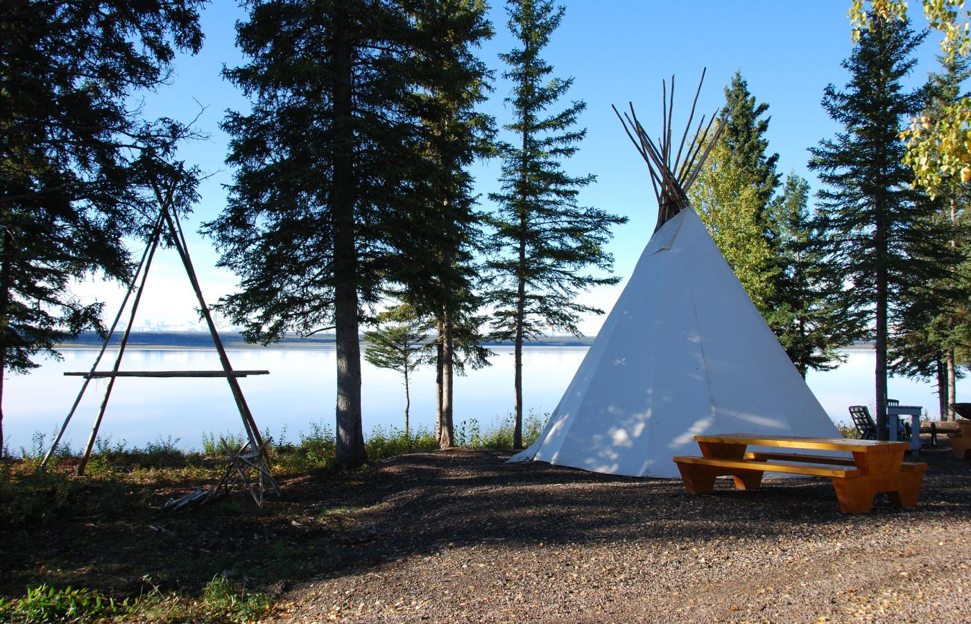teepee tipi at mckinnon territorial park norman wells nwt