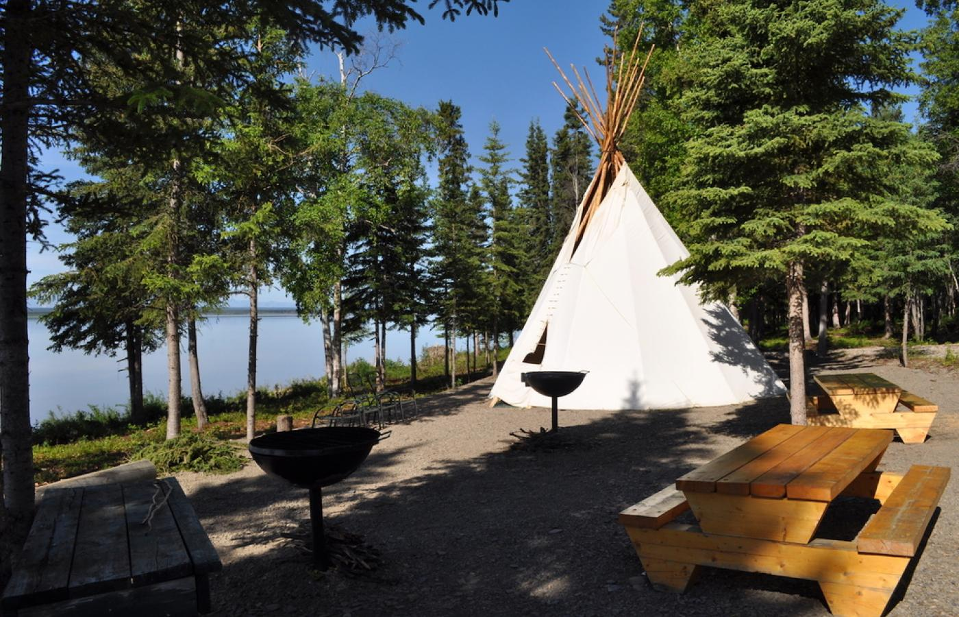 Have a stay at MacKinnon Territorial Park near Norman Wells, in Canada's Northwest Territories