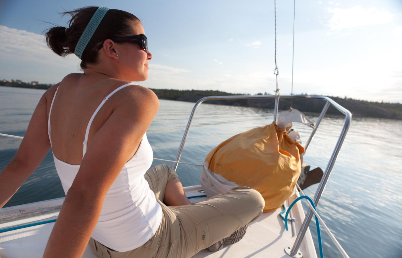 sailing on Great Slave Lake and Yellowknife