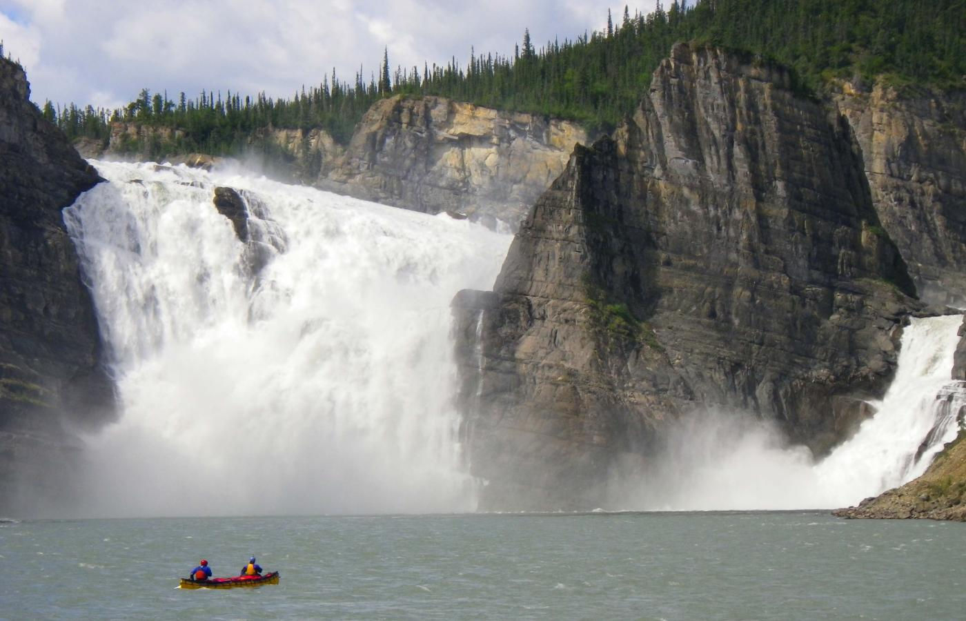Virginia Falls in Nahanni National Park Reserve in the Northwest Territories