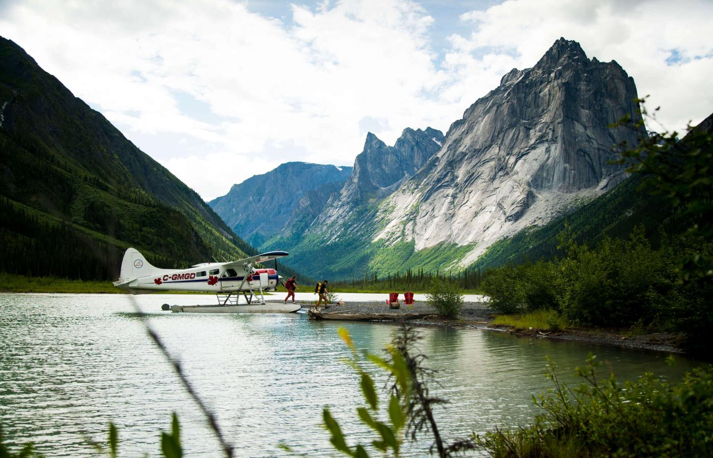 A float plane in Nahanni National Park Reserve
