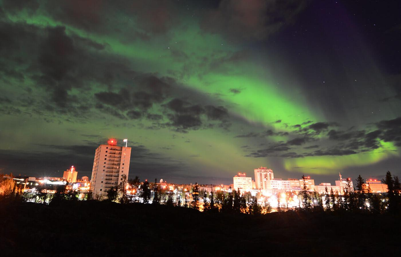 Aurora over Yellowknife, NWT