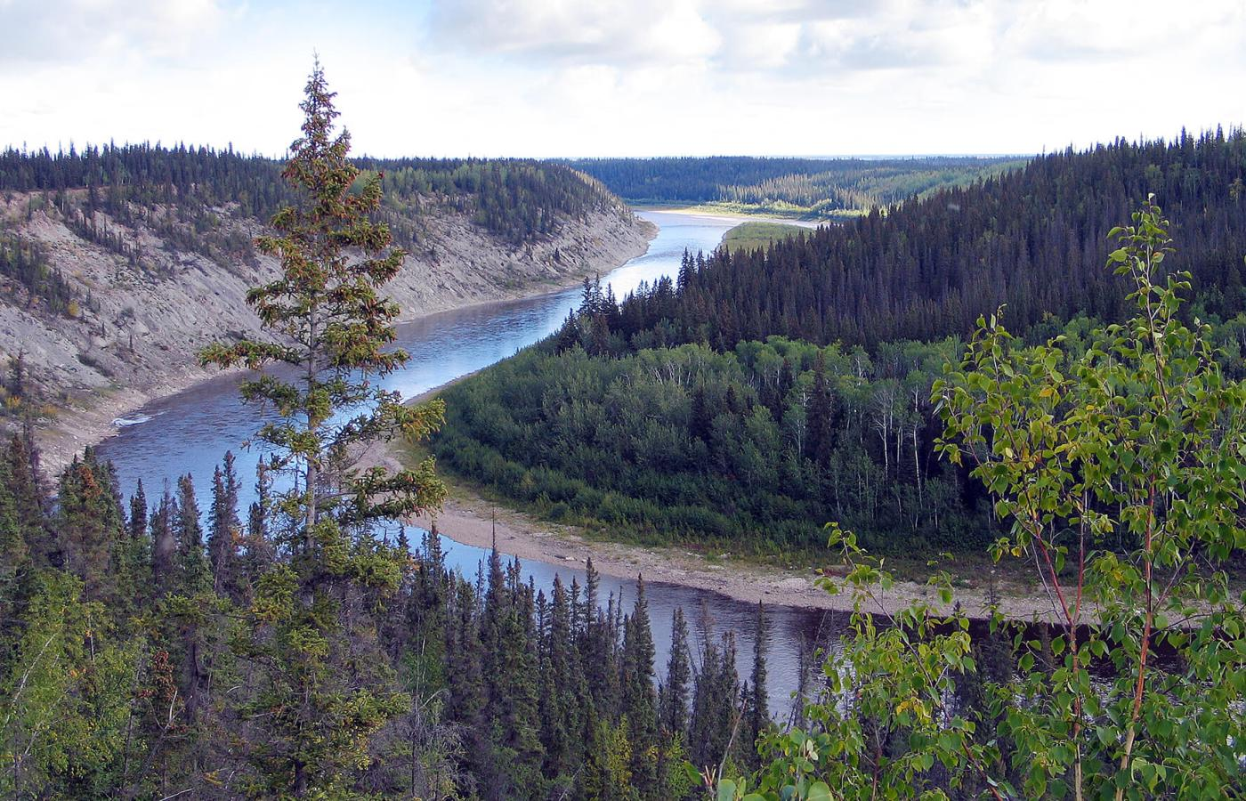 The Hay River flowing through in Enterprise