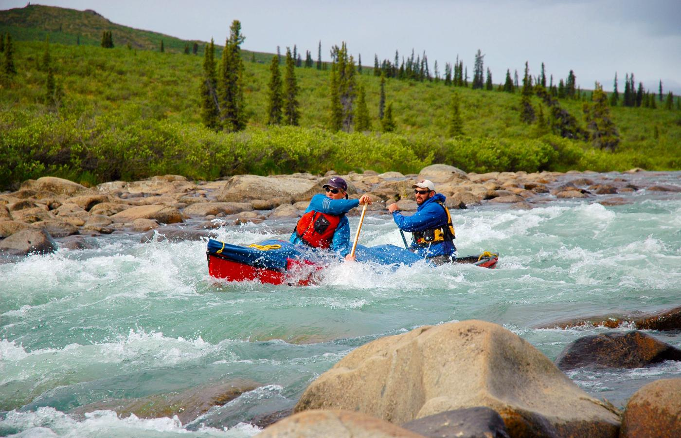 A white water section in the Northwest Territories
