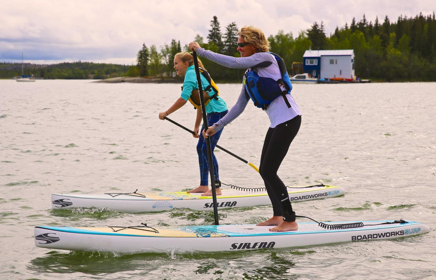 Stand-up paddle in Yellowknife Bay
