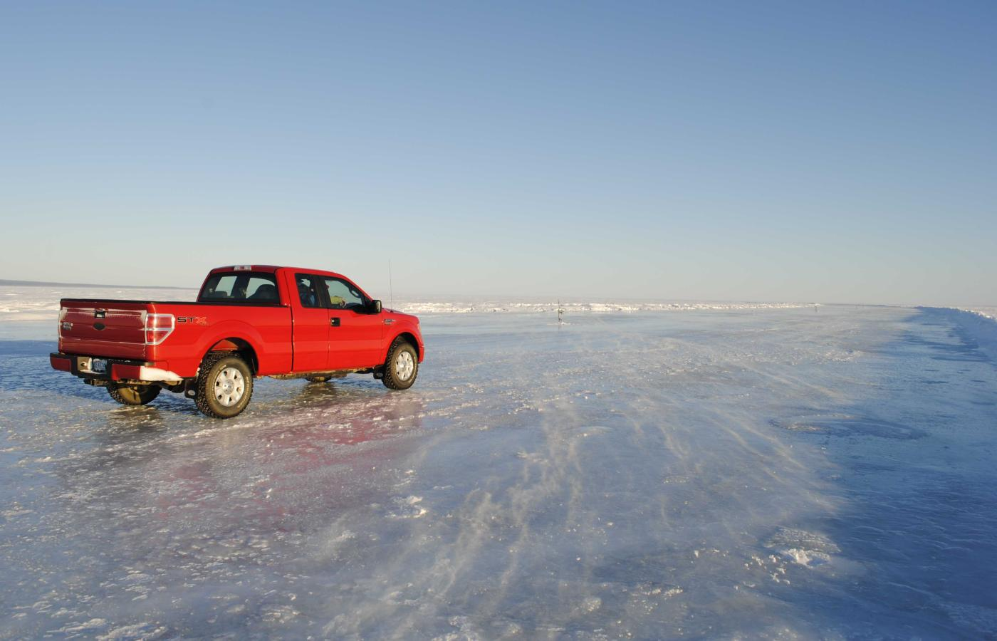 An ice road in the NWT.