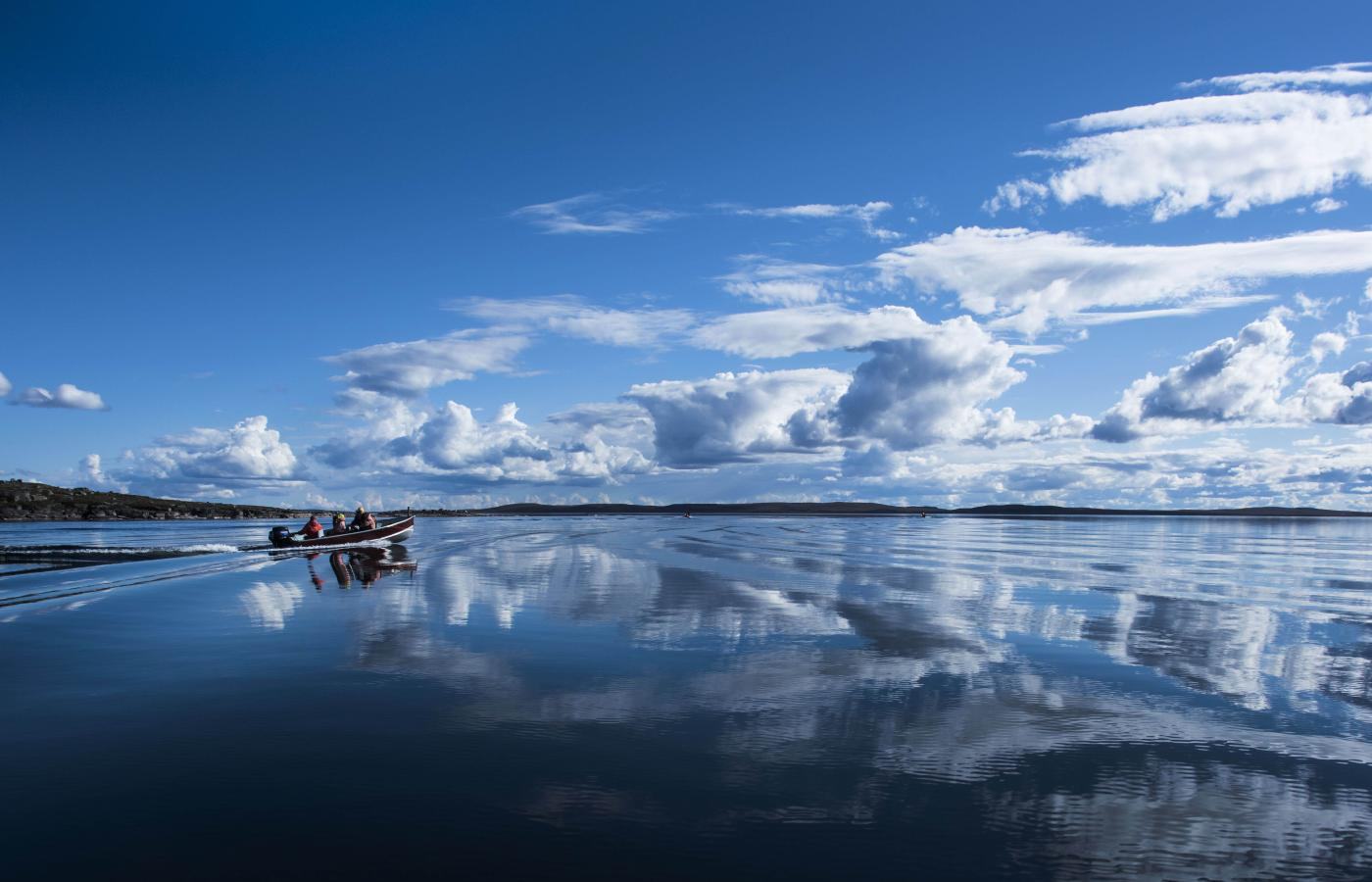 Do some lake fishing at Peterson's Point Lake Lodge in the NWT