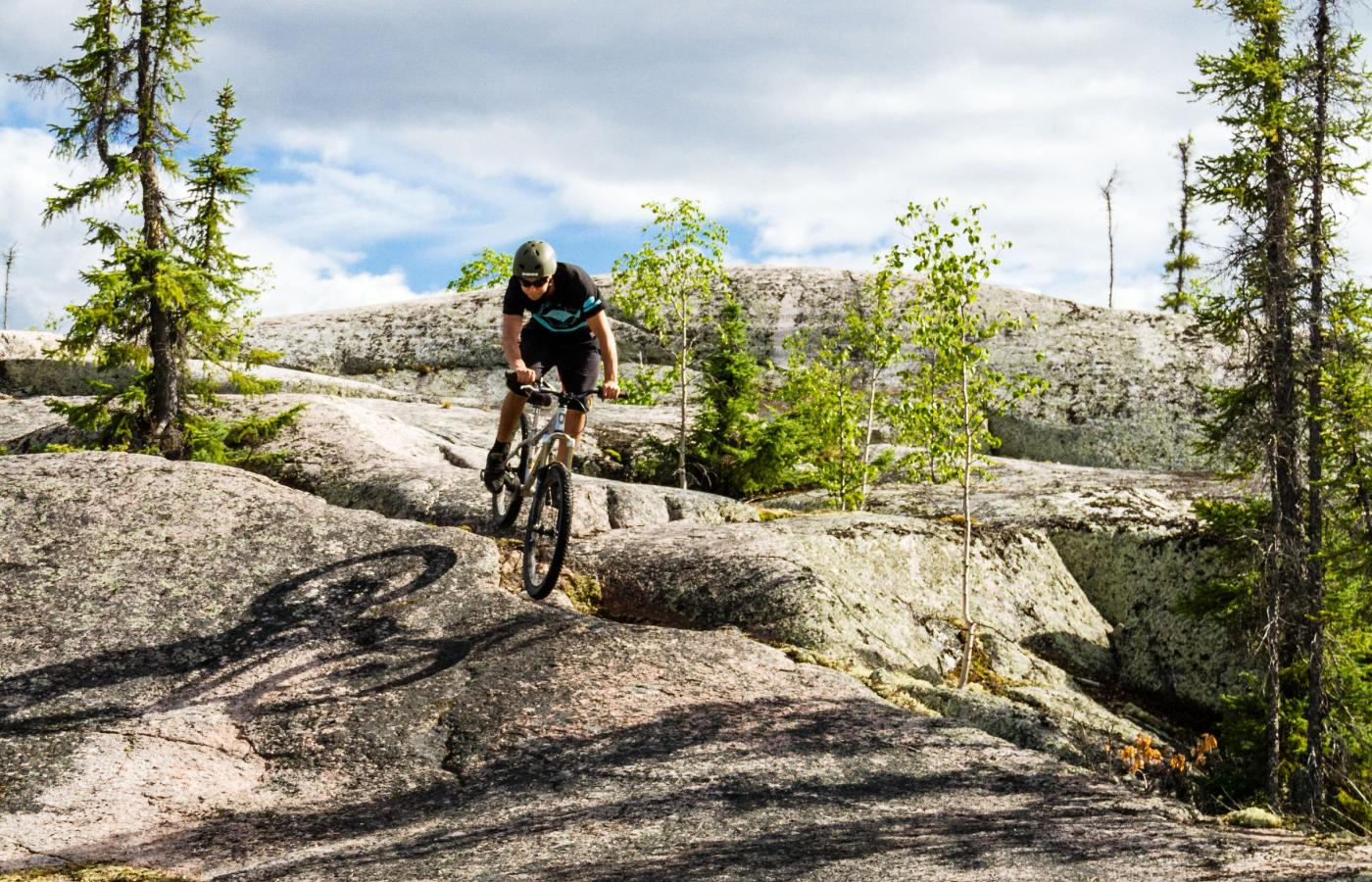 Yellowknife's slickrock is prime for mountain bikers in Canada's Northwest Territories