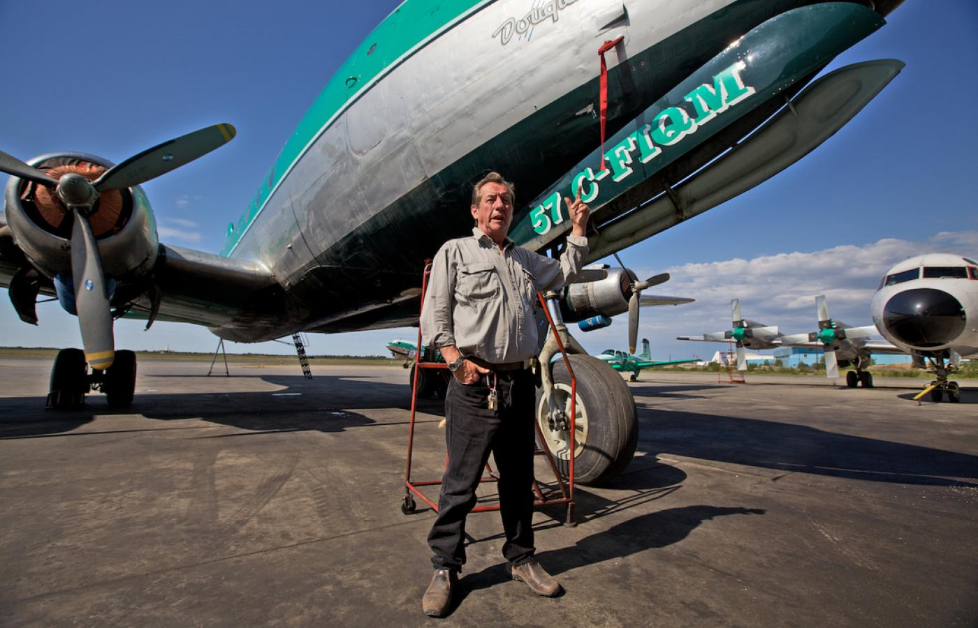 Buffalo Joe McBryan is the iconic owner of Buffalo Airways and feature character of Ice Pilots NWT.