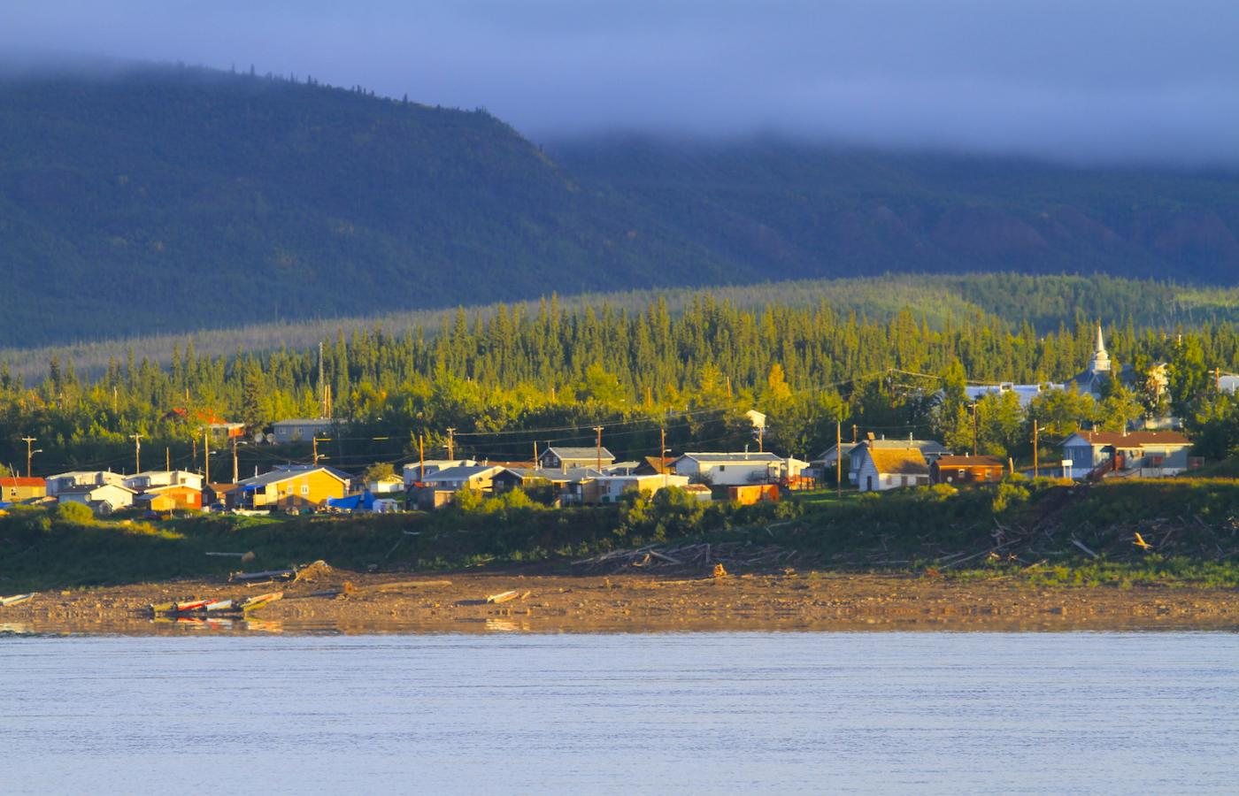 Stop into one of the communities along the Mackenzie River, in Canada's Northwest Territories