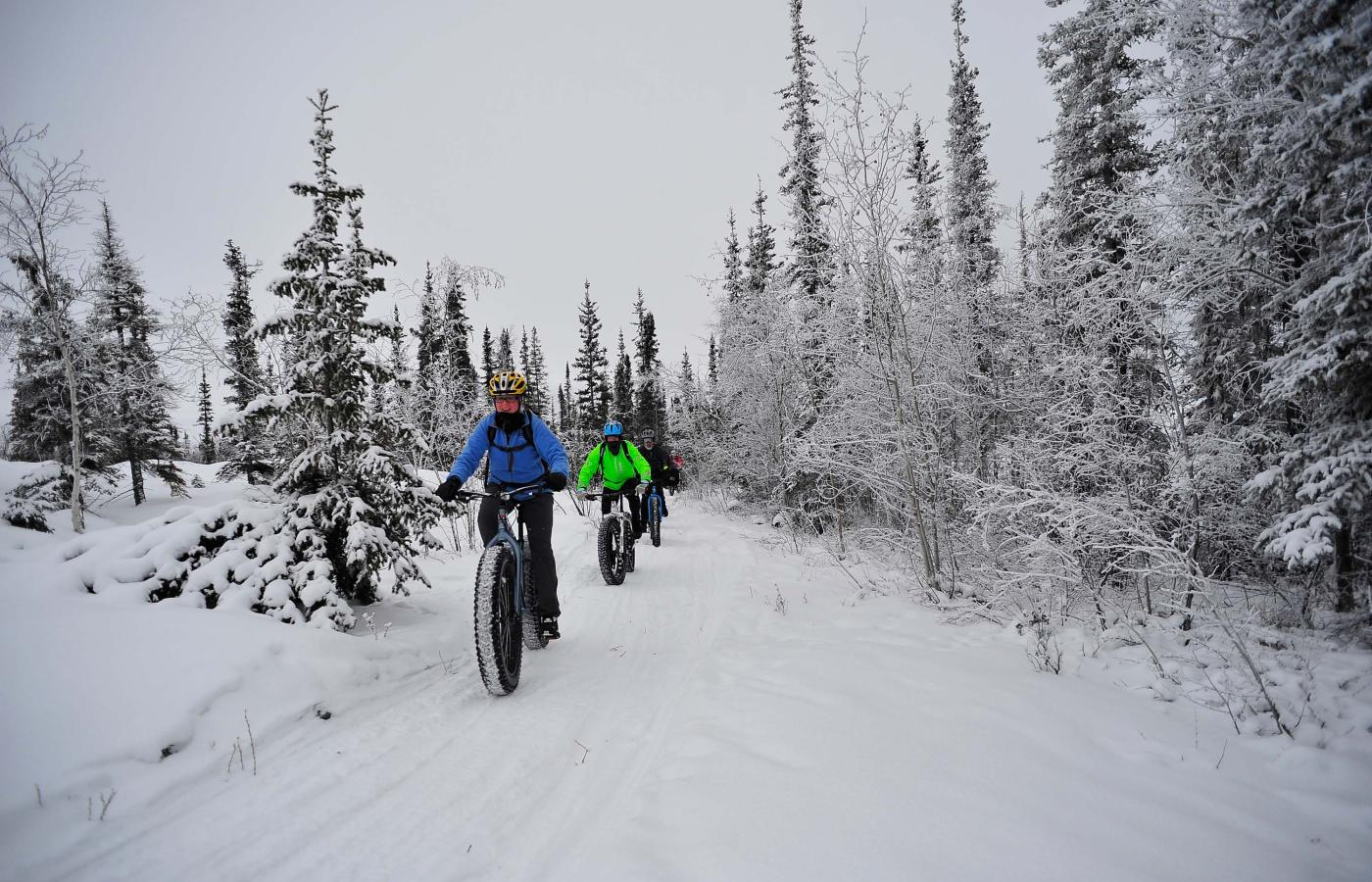Winter fat-biking in Canada's Northwest Territories is quickly becoming one of the most exciting ways to get out and explore the wilderness