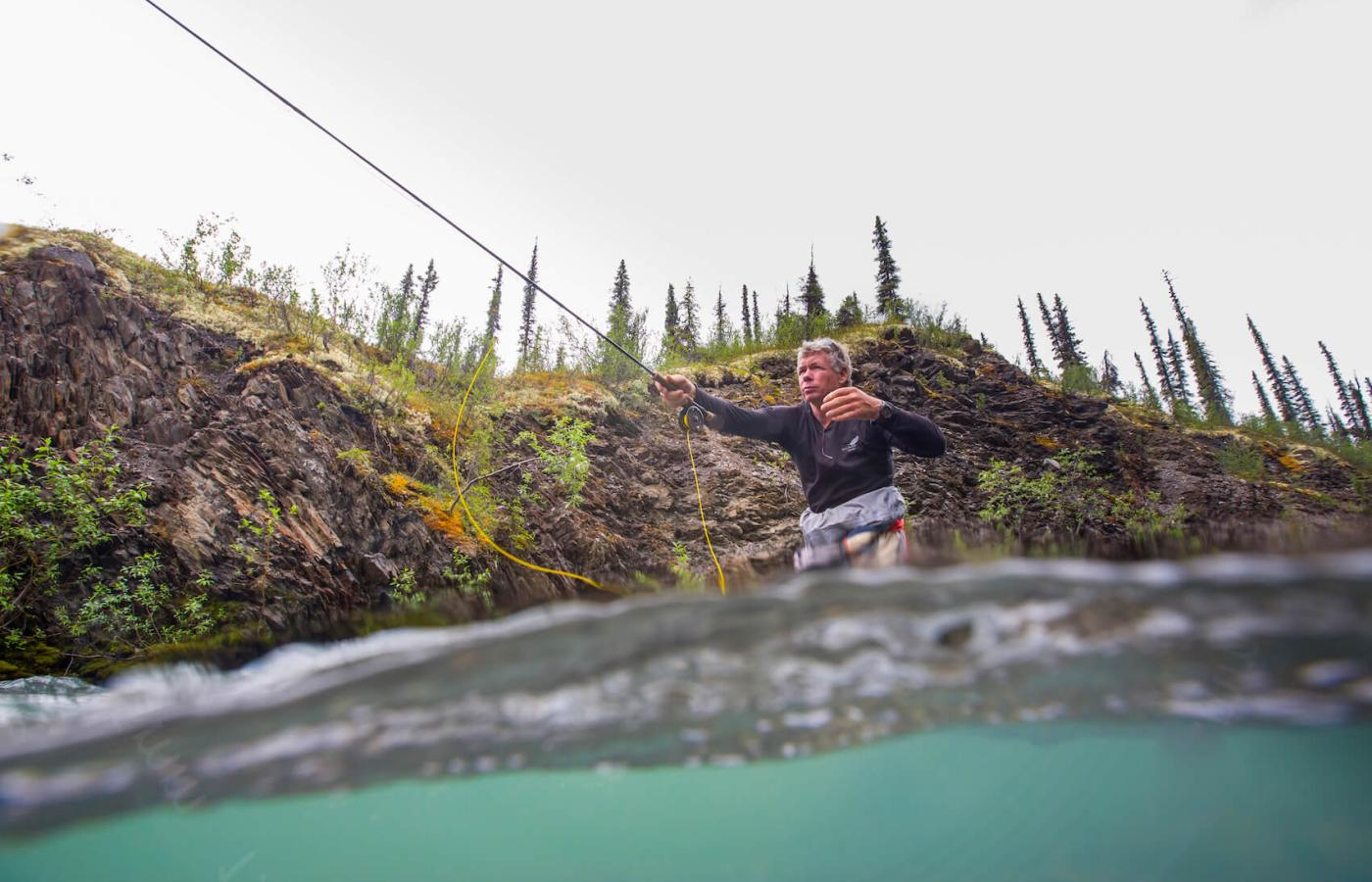 Fishing for bull trout in the Northwest Territories