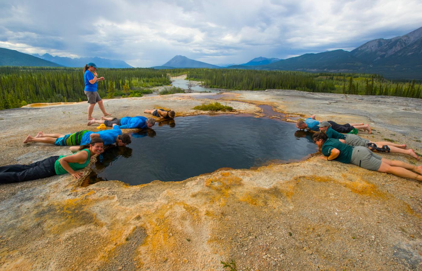 the most famous mineral springs in Canada