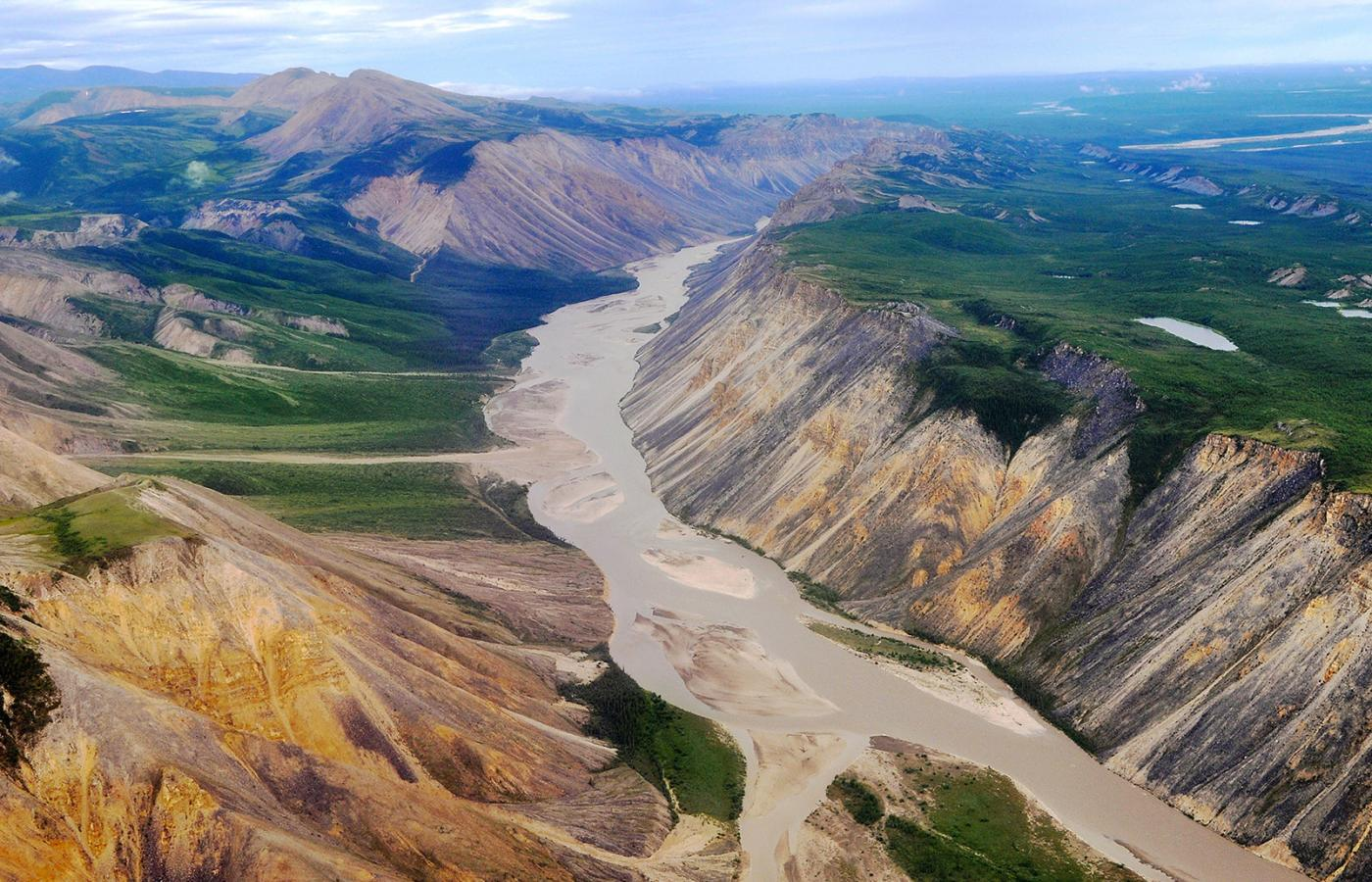 Overhead view of the Canol Trail in the NWT