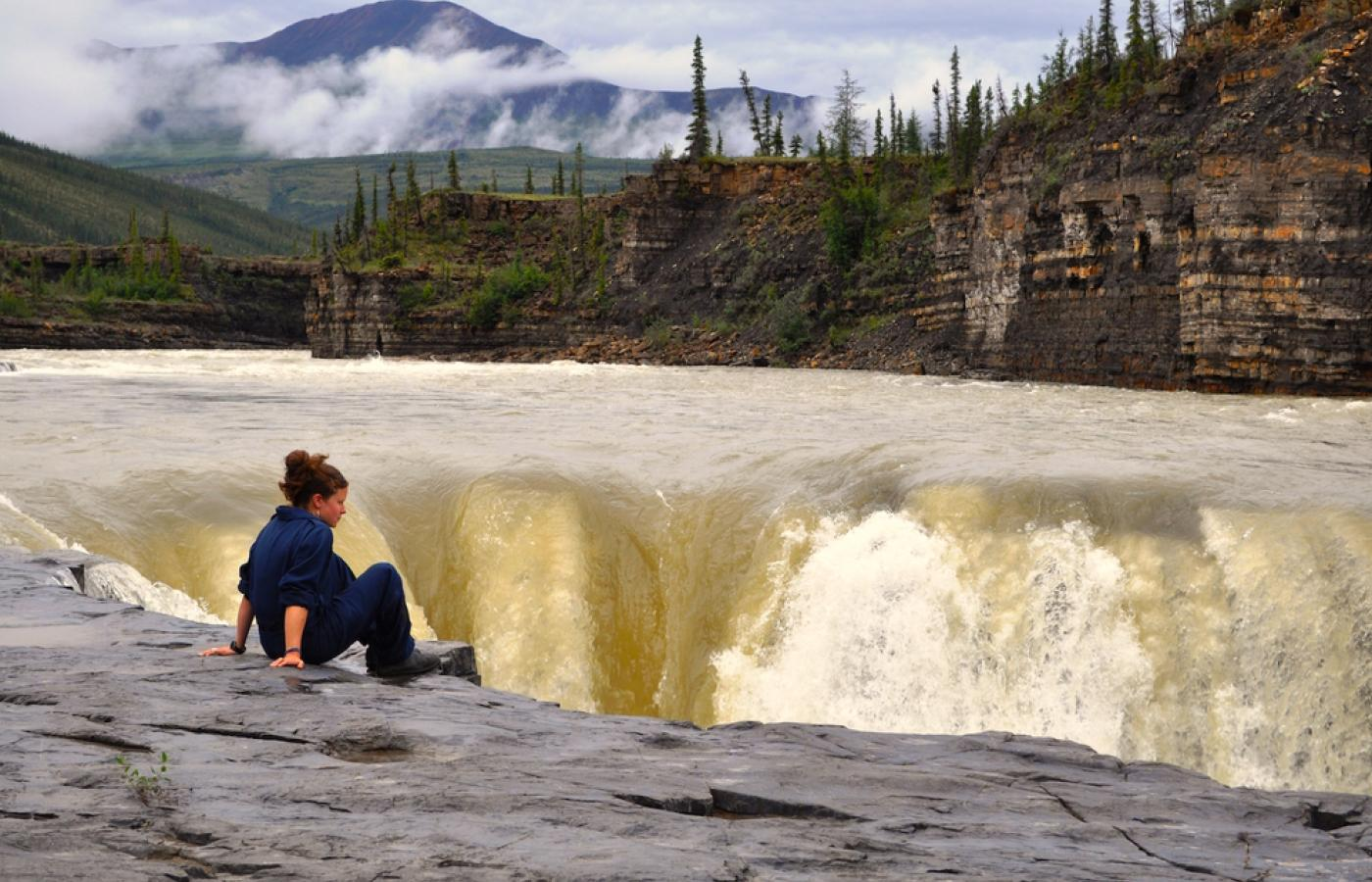 Carcajou Falls along the Canol Trail in Canada's Northwest Territories.