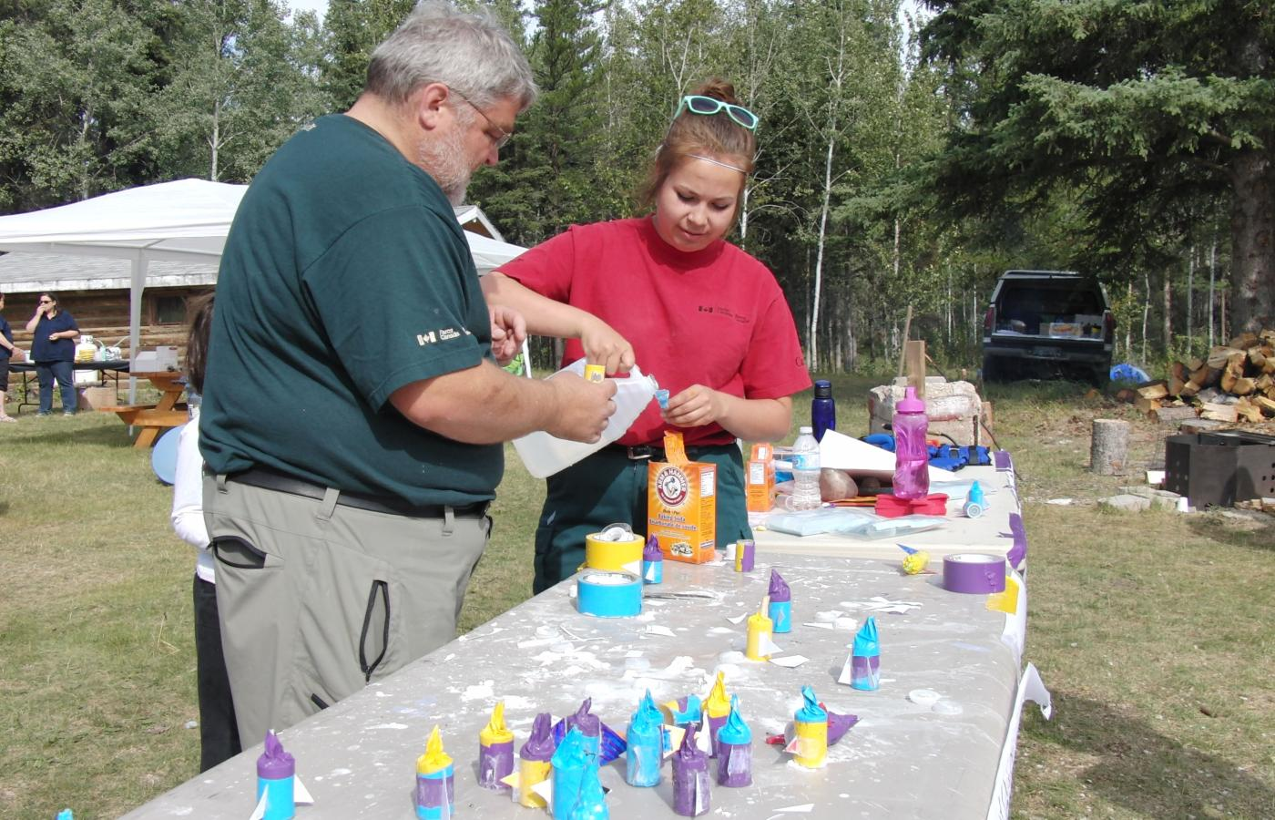 Hands-on learning at the Dark Sky Festival in Fort Smith, NWT.