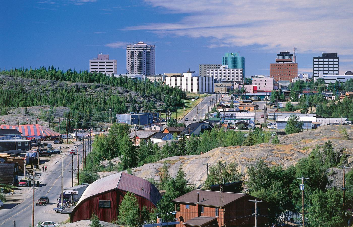 Yellowknife from Old Town Pilot's Monument
