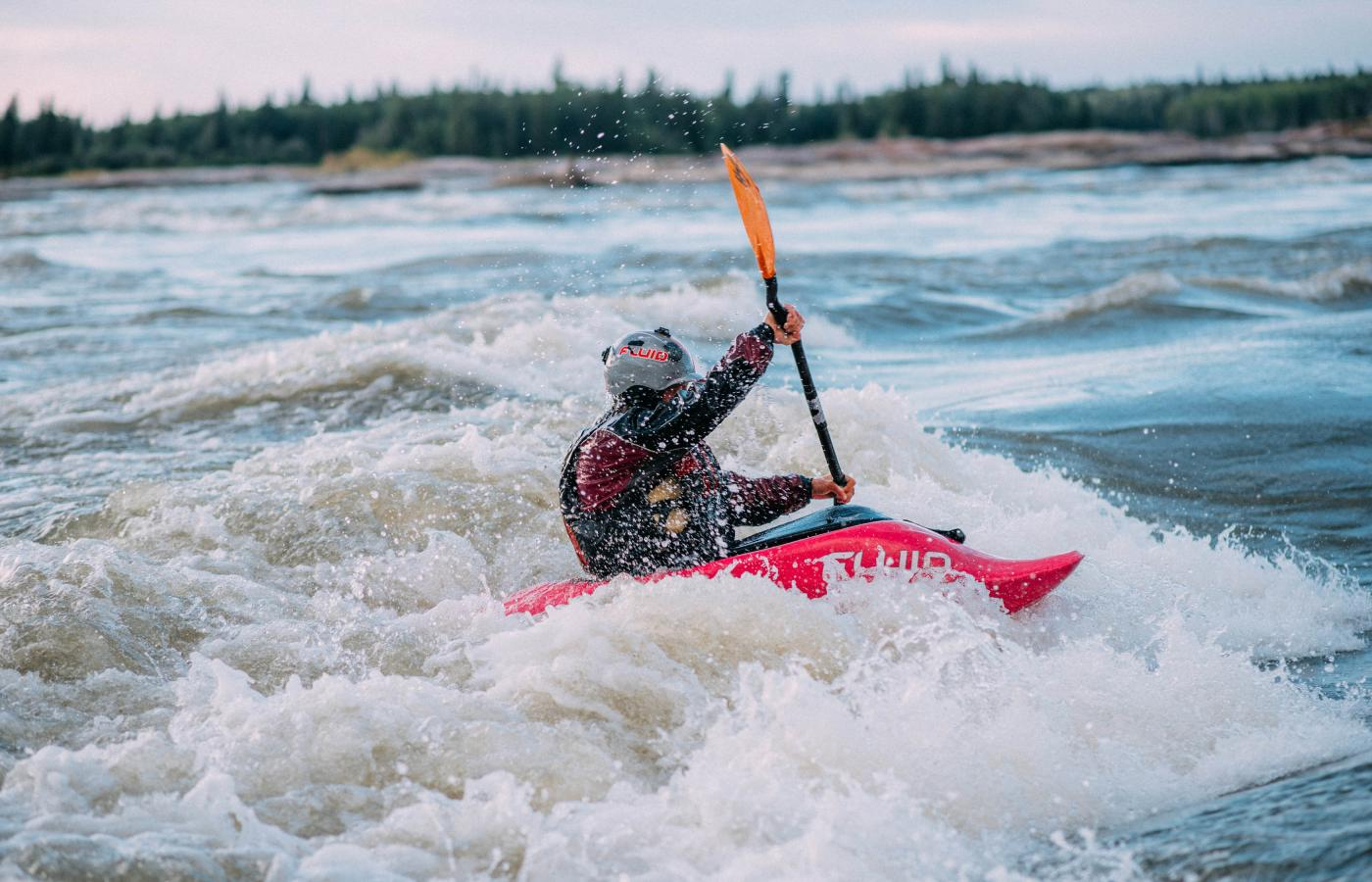 Whitewater kayaking is popular in Fort Smith, Northwest Territories