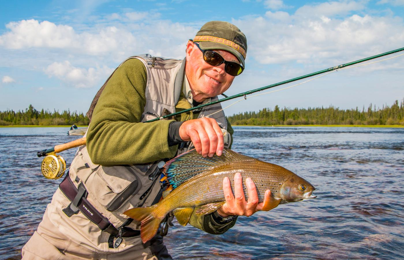 Fishing for Arctic grayling in the Northwest Territories