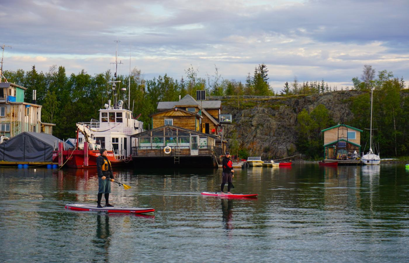 Paddling in Yellowknife