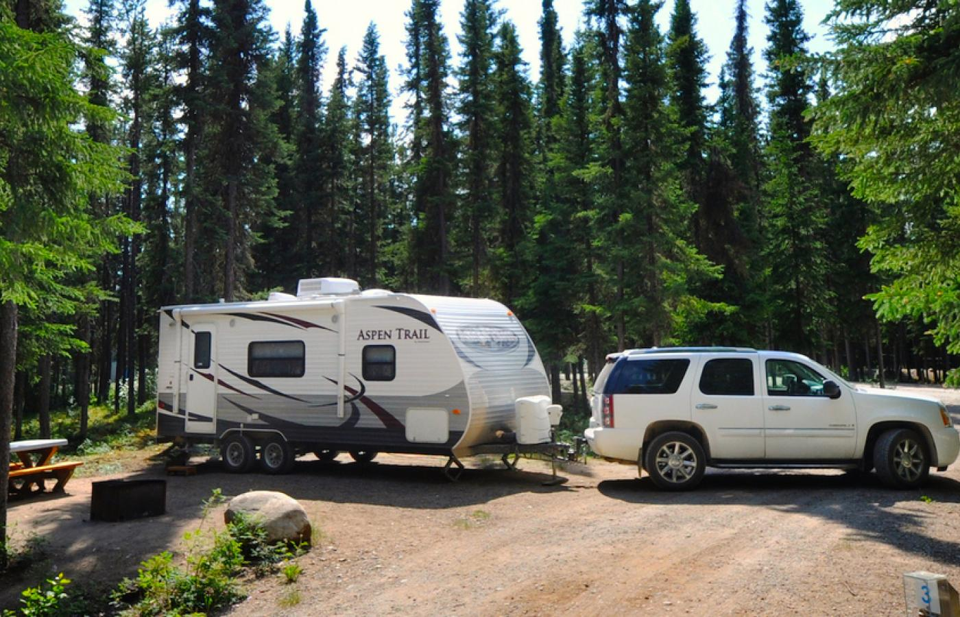 The NWT has a bounty of campgrounds where you can plug in your RV.