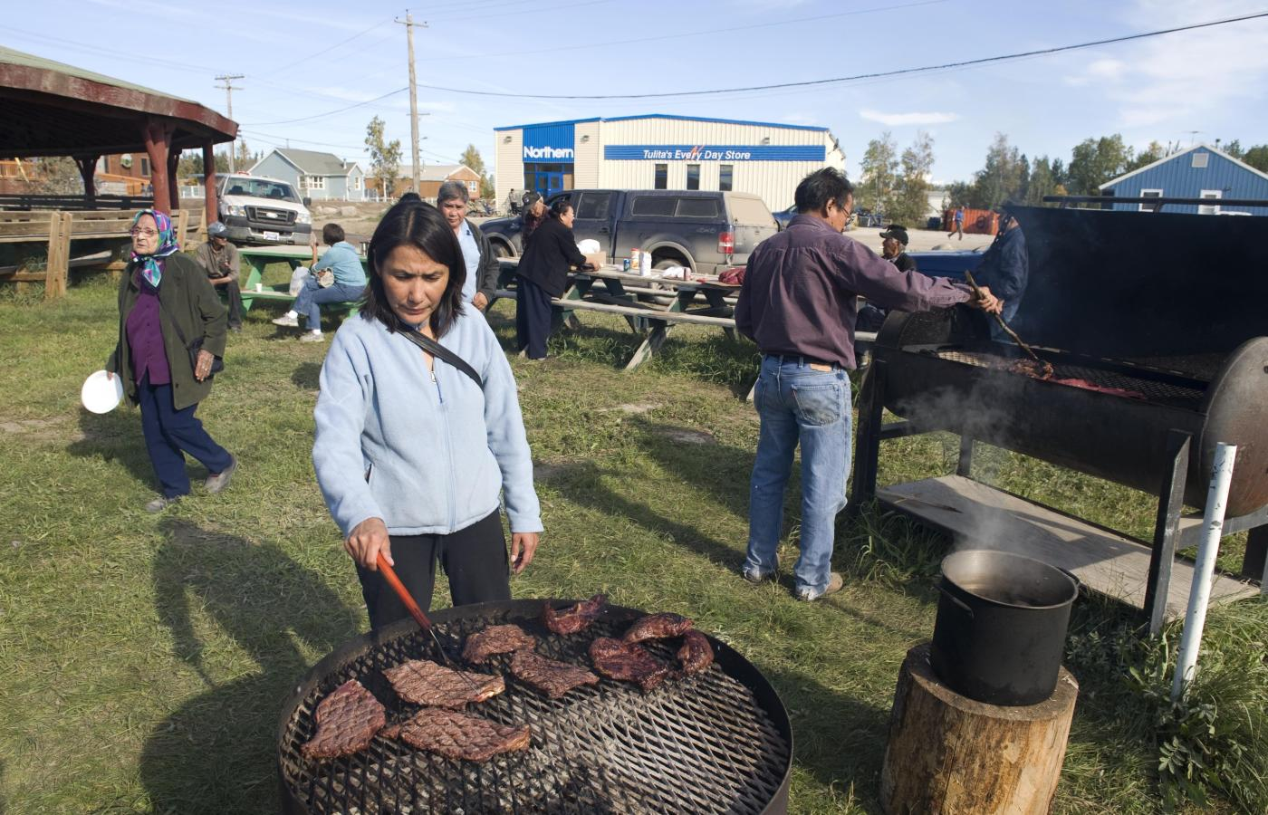 An Indigenous community celebration in the NWT