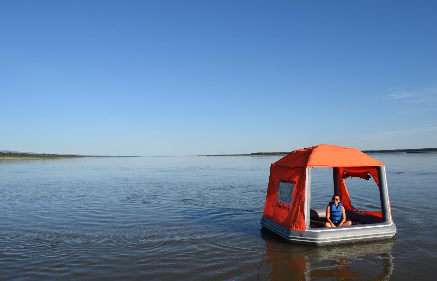 A shoal tent on Great Bear Lake in the Sahtu region of the NWT.