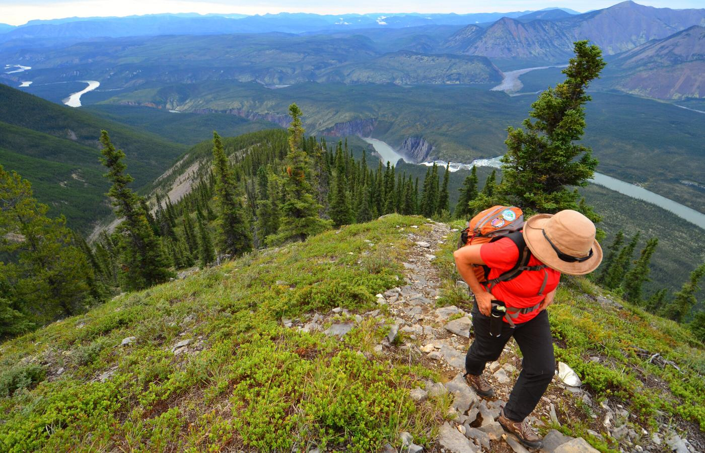 Sunblood Peak is a nice hike in Nahanni National Park Reserve