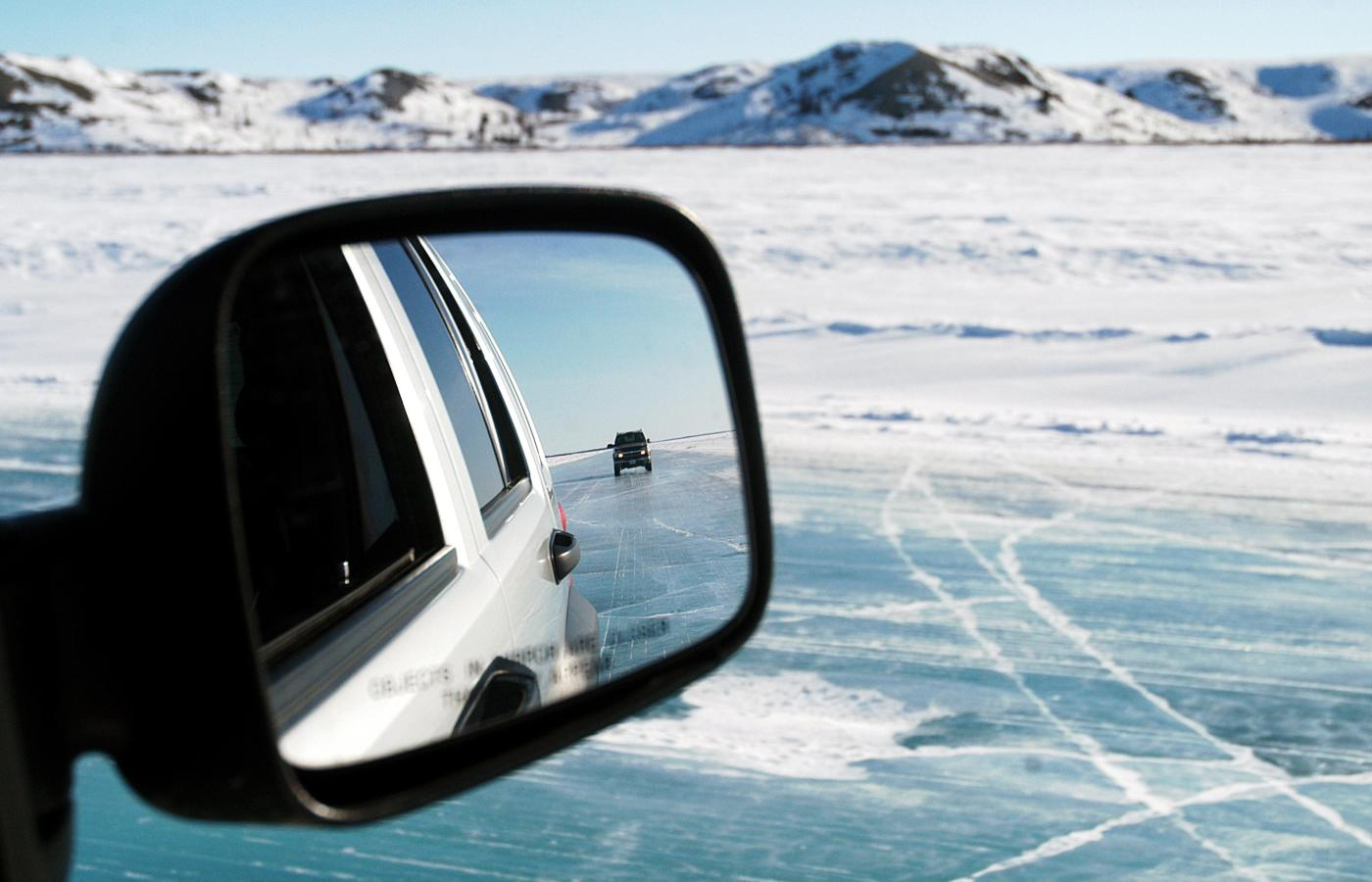 The Inuvik to Aklavik ice road in the NWT.