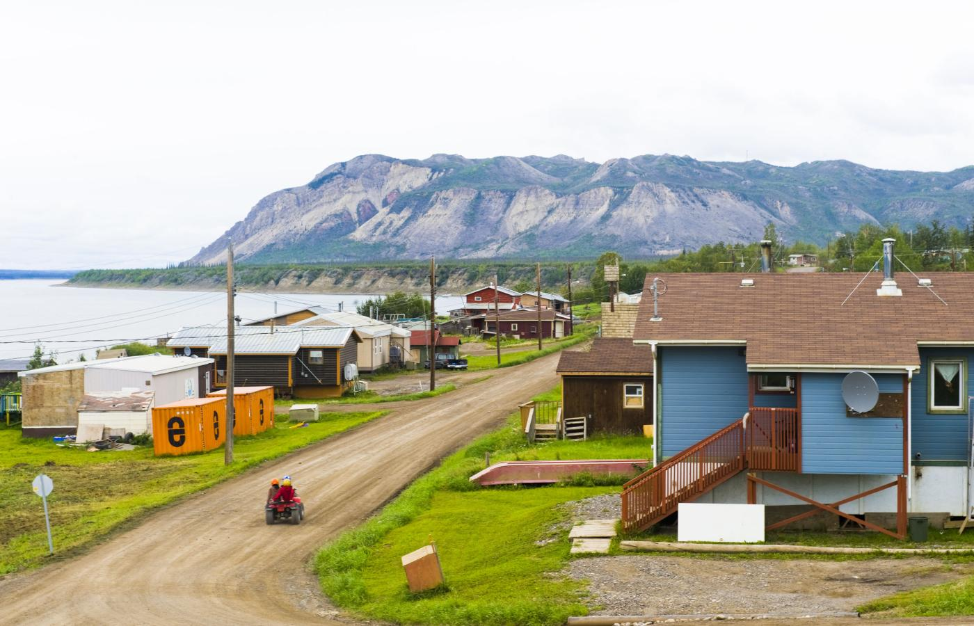 The community of Tulita, along the Mackenzie River in Canada's Northwest Territories