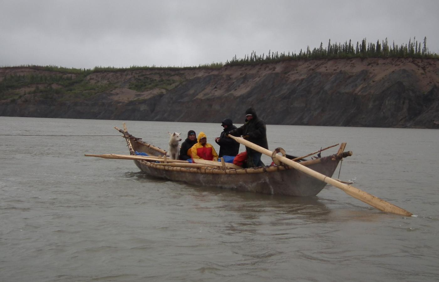 A moosehide canoe in the Sahtu region of the NWT.