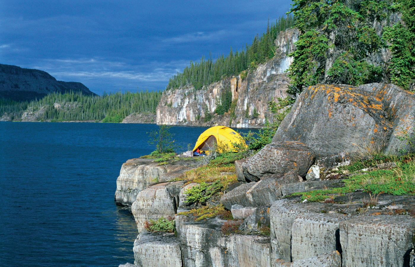 Camping in the East Arm of Great Slave Lake in the Northwest Territories